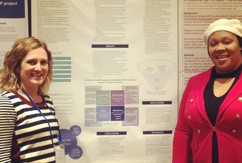 Liz Barr and Danielle Campbell at the 9th International Workshop on Women